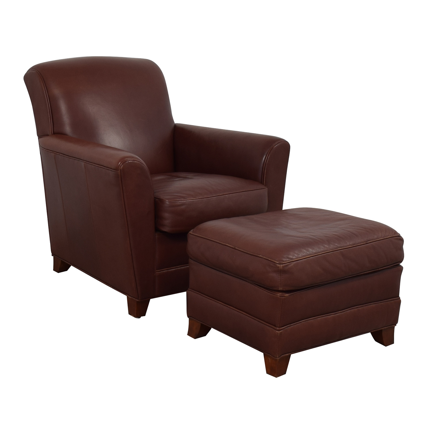 Stickley Furniture Stickley Furniture Leather Club Chair and Ottoman nyc
