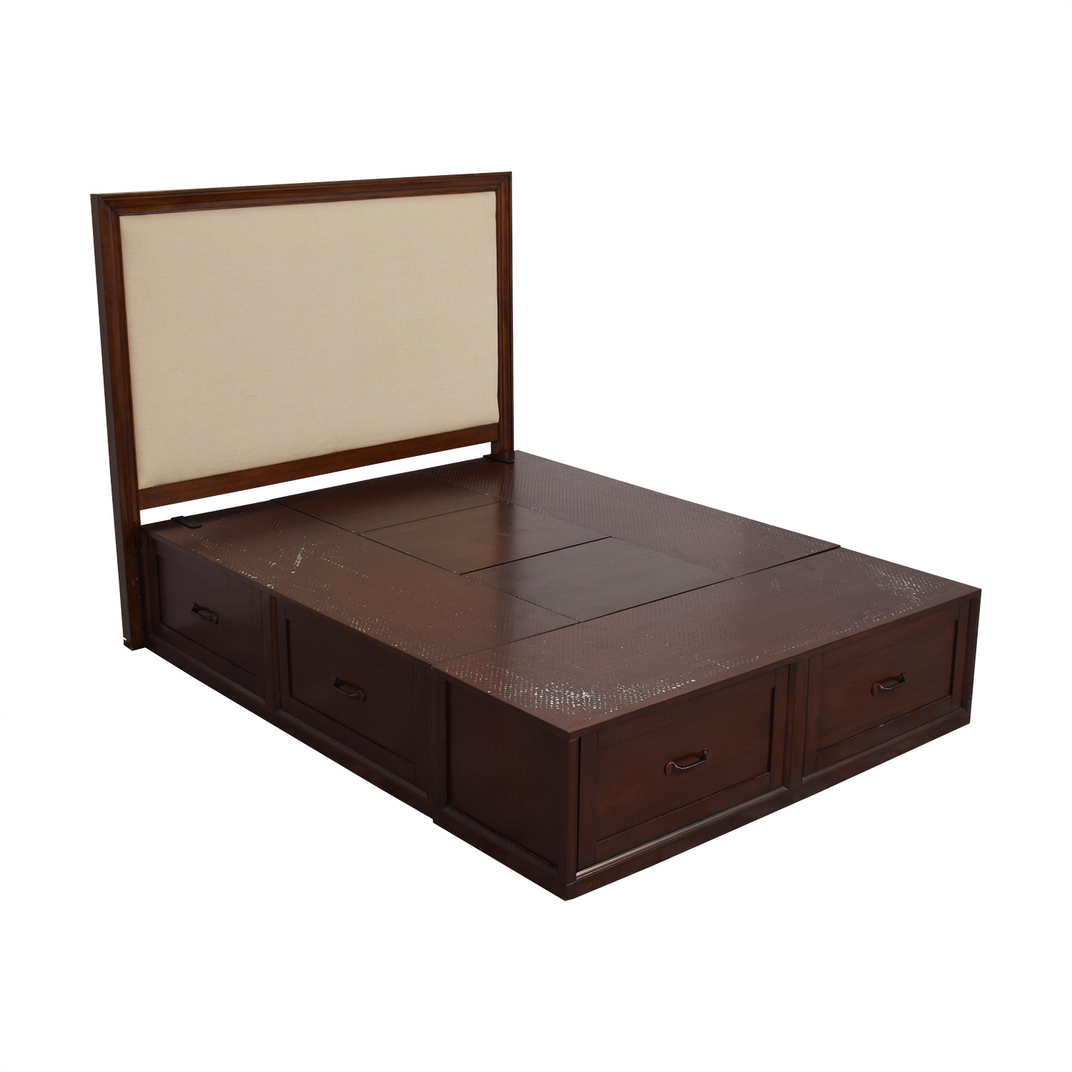 buy Pottery Barn Queen Stratton Storage Bed Pottery Barn Beds