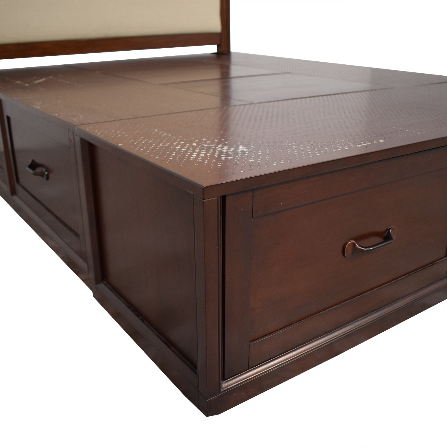 Pottery Barn Pottery Barn Queen Stratton Storage Bed
