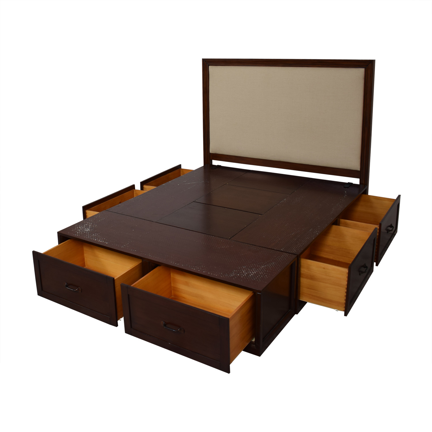 Pottery Barn Queen Stratton Storage Bed sale