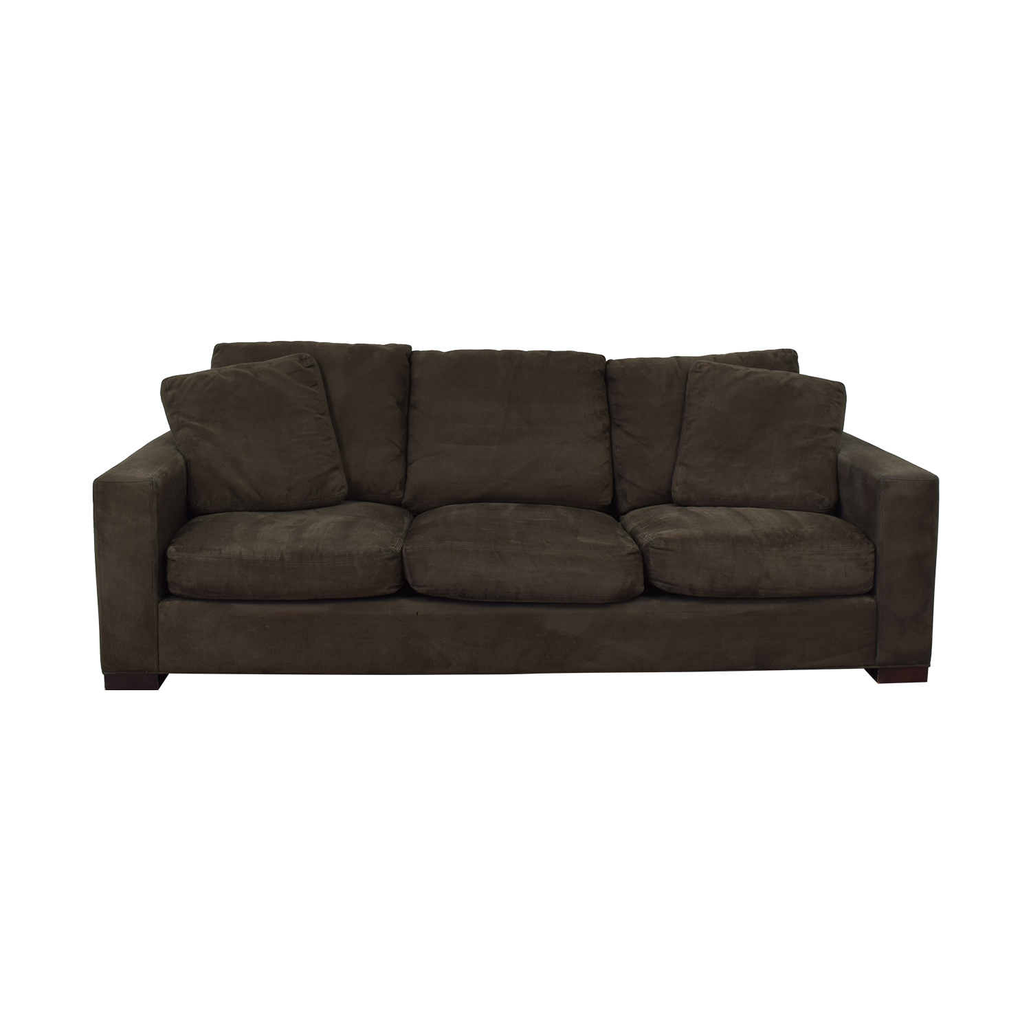 Room & Board Room & Board Dark Grey Micro Suede Sofa