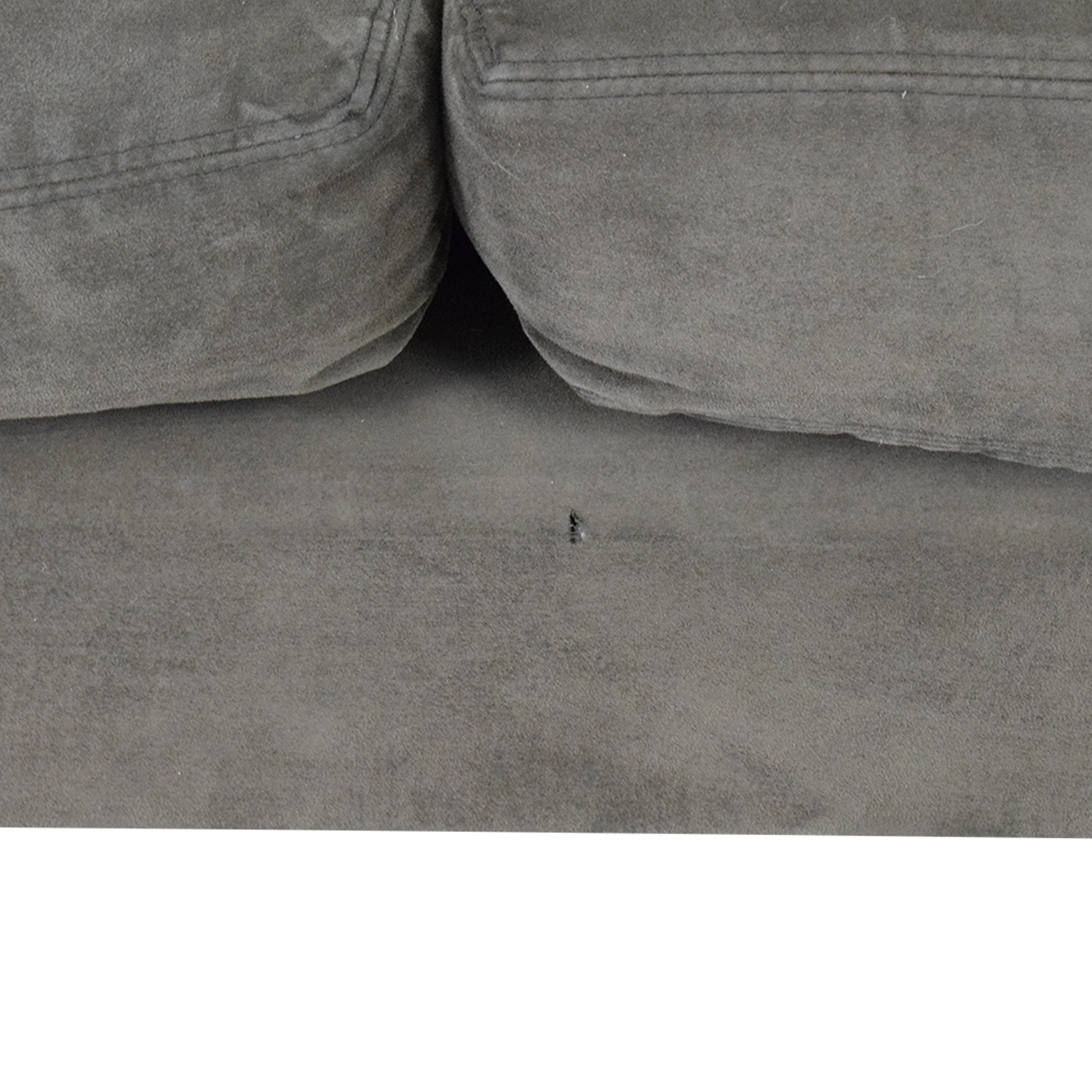 Room & Board Room & Board Dark Grey Micro Suede Sofa nyc