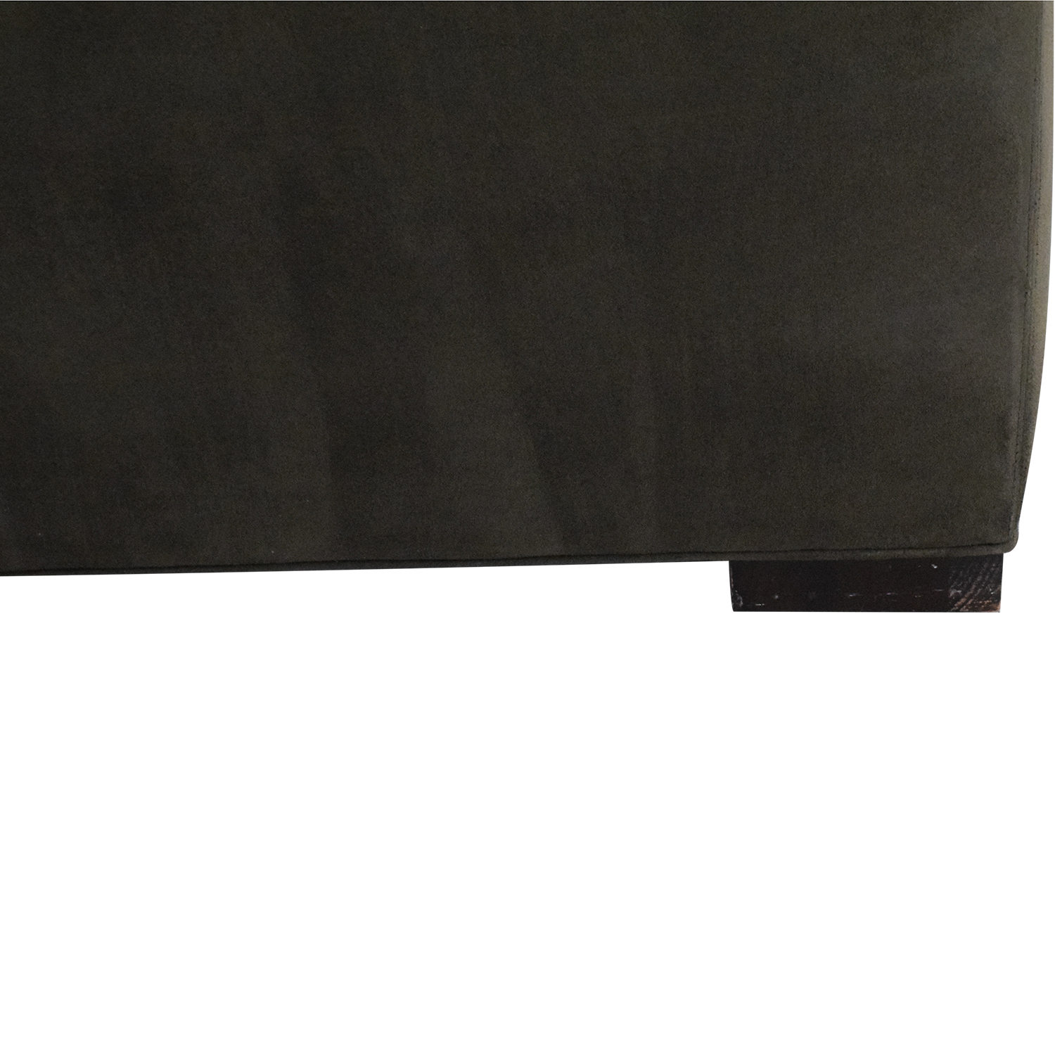 buy Room & Board Dark Grey Micro Suede Sofa Room & Board Sofas
