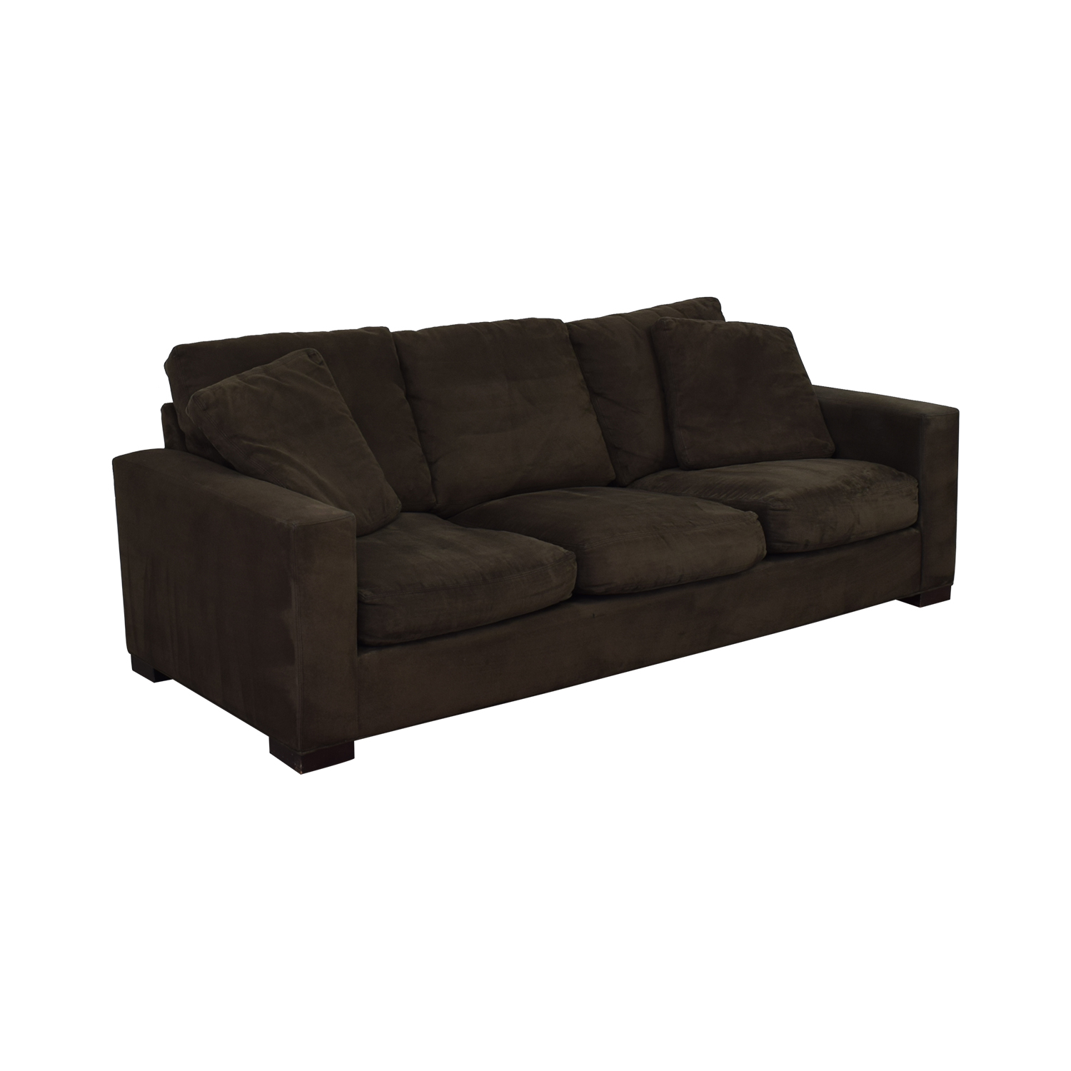 buy Room & Board Dark Grey Micro Suede Sofa Room & Board