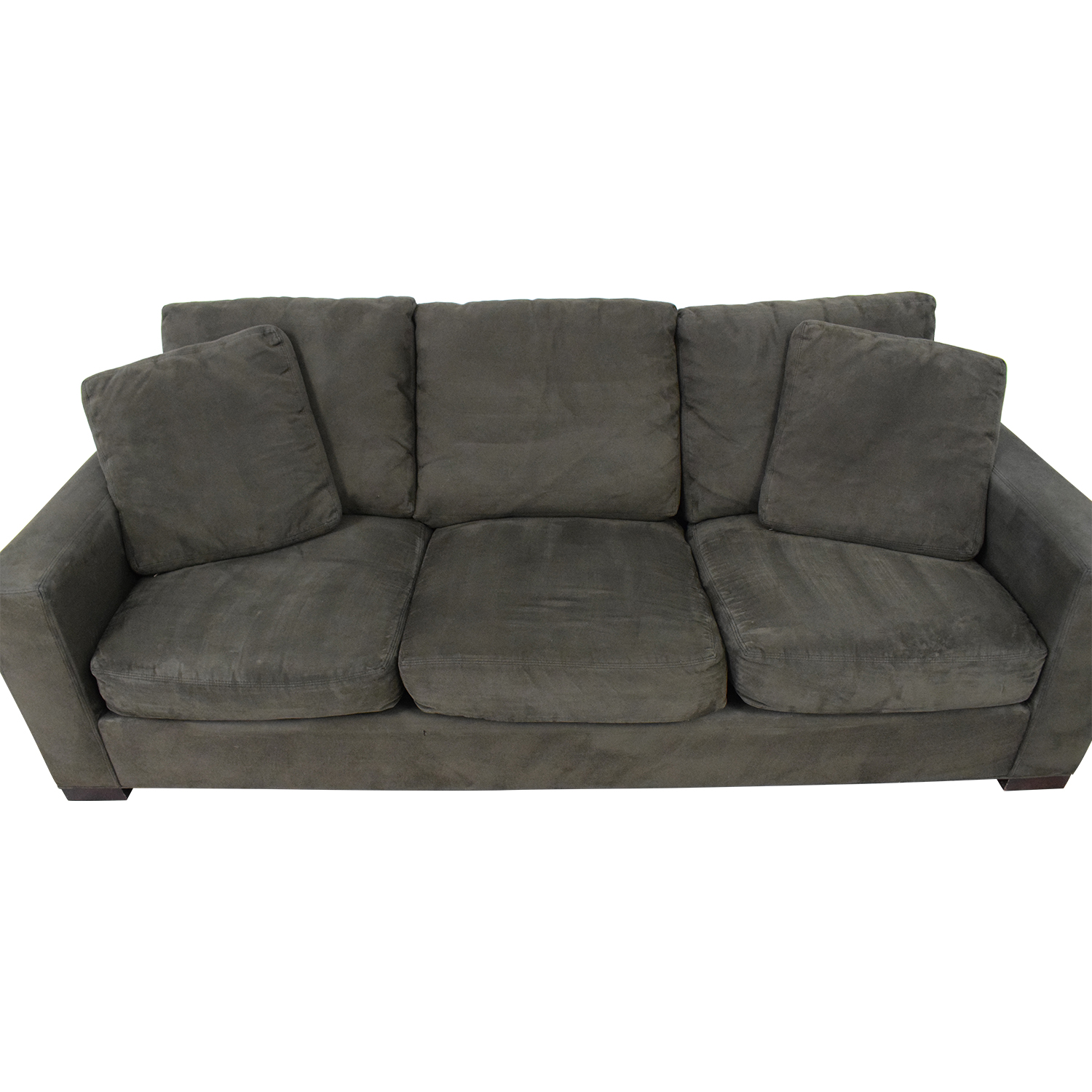 Room Board Dark Grey Micro Suede Sofa