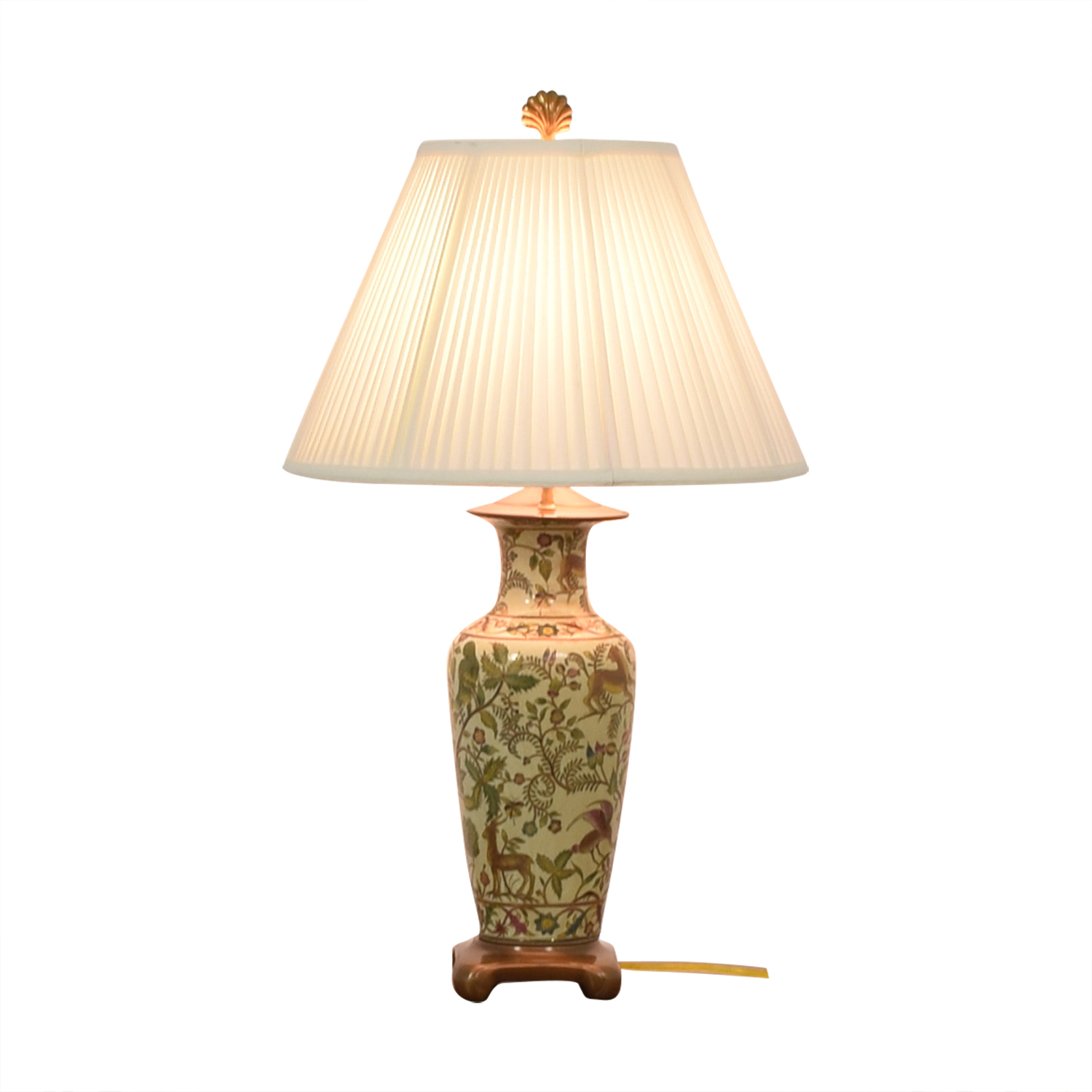 Painted Ceramic Table Lamp dimensions