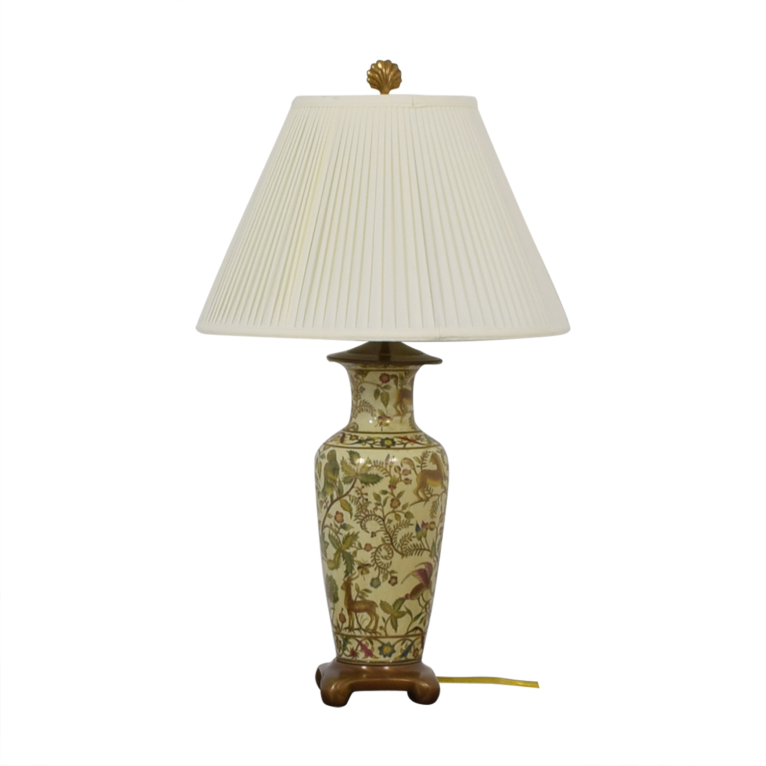 Painted Ceramic Table Lamp discount