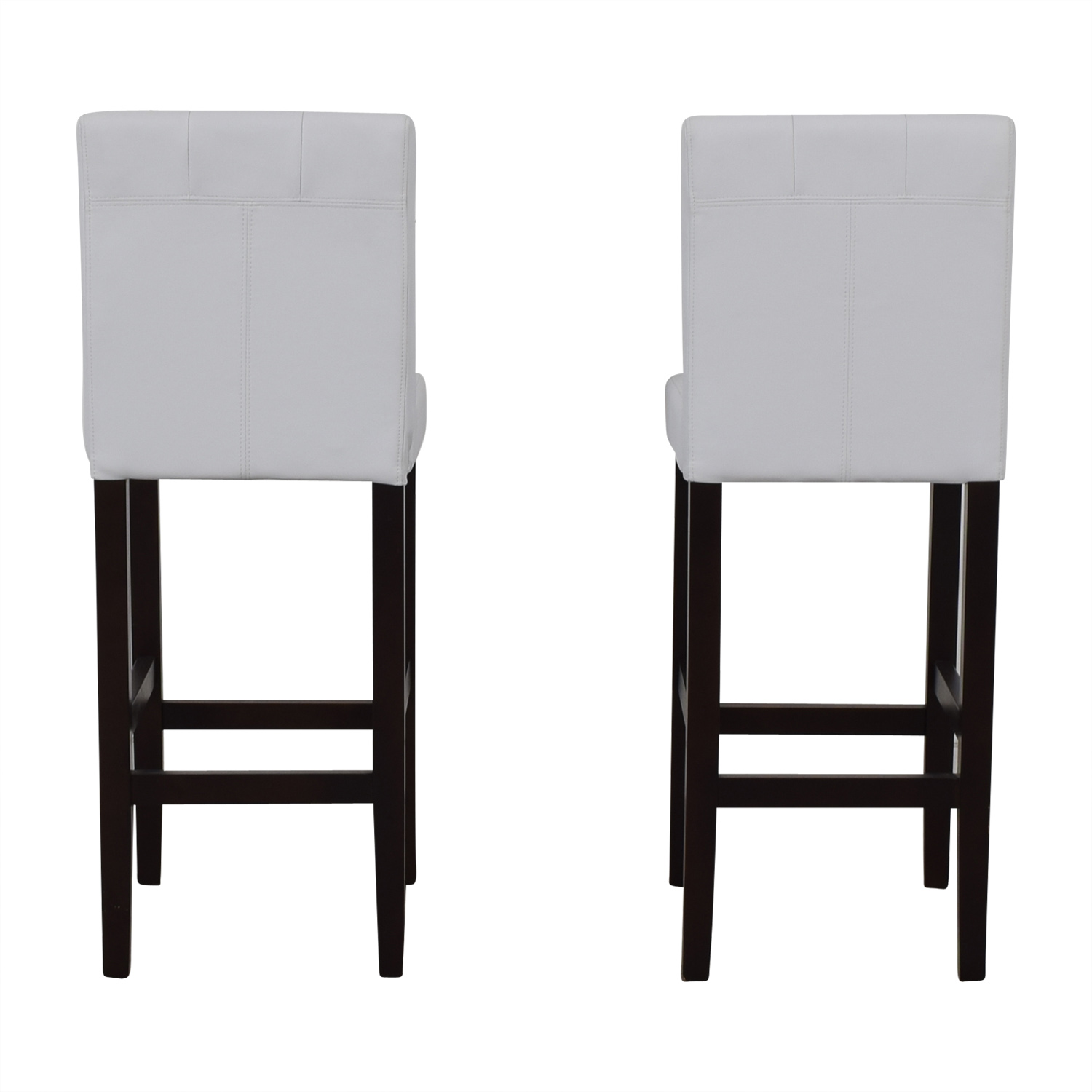 buy Crate & Barrel Tufted White Barstools Crate & Barrel Chairs