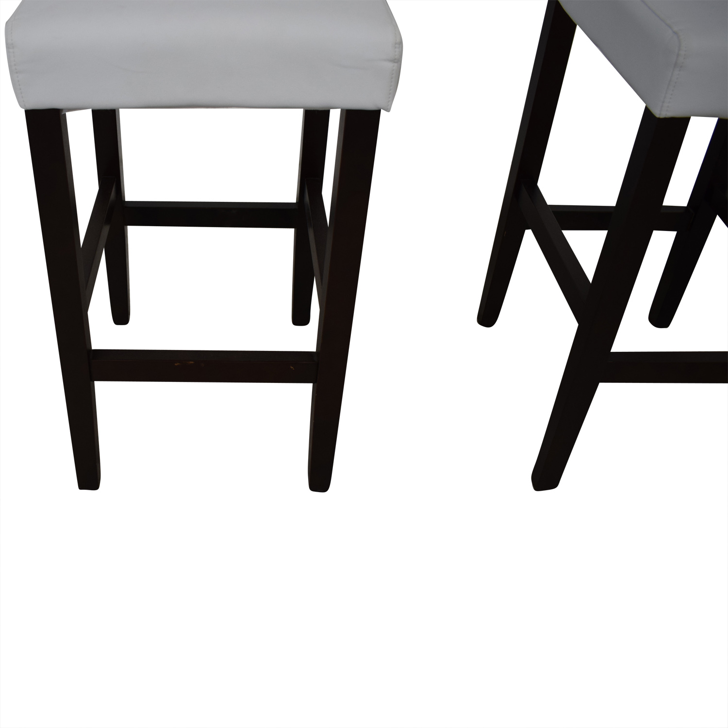 buy Crate & Barrel Tufted White Barstools Crate & Barrel