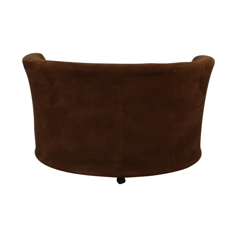 Kroehler Kroehler Brown Suede Swivel Chair coupon