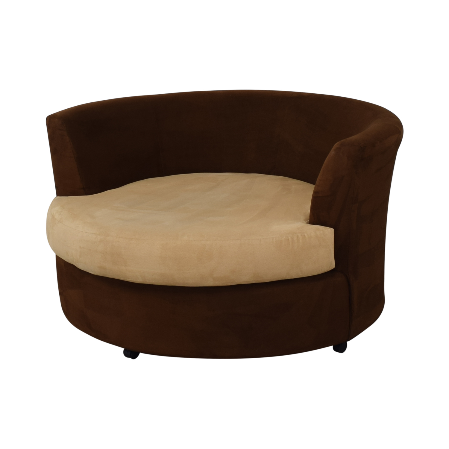 72 Off Kroehler Kroehler Brown Suede Swivel Chair Chairs
