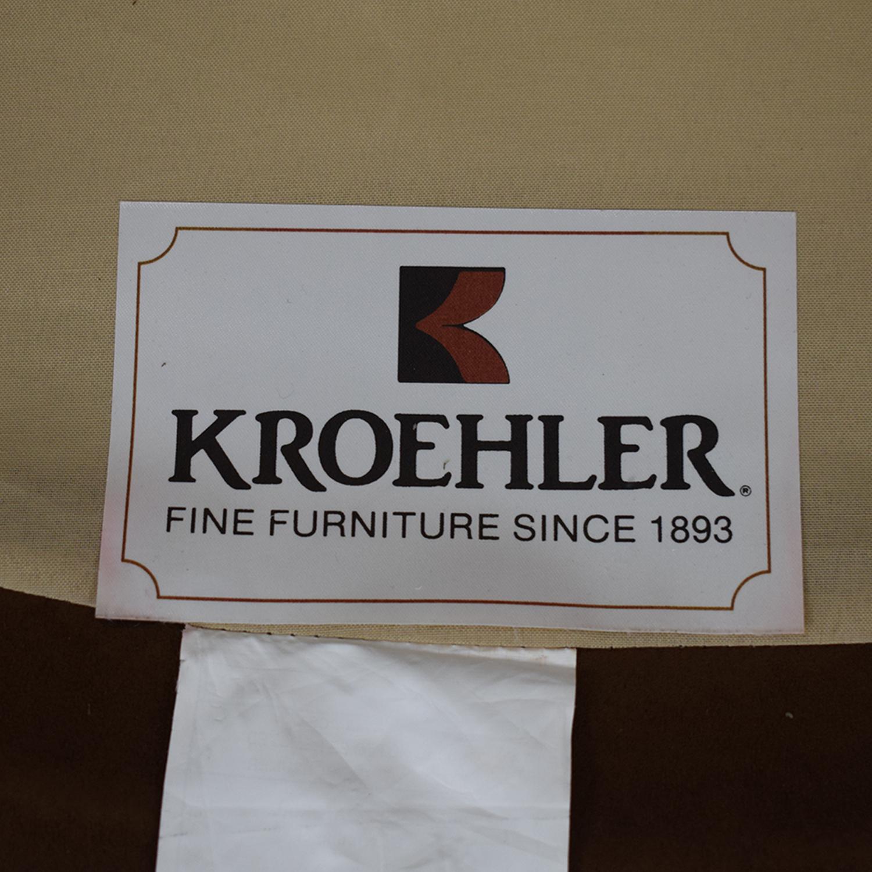 Kroehler Kroehler Brown Suede Swivel Chair brown
