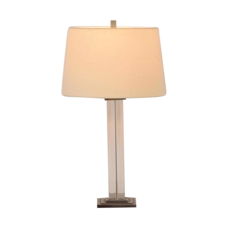 Crate & Barrel Crate & Barrel Crystal Lamp used