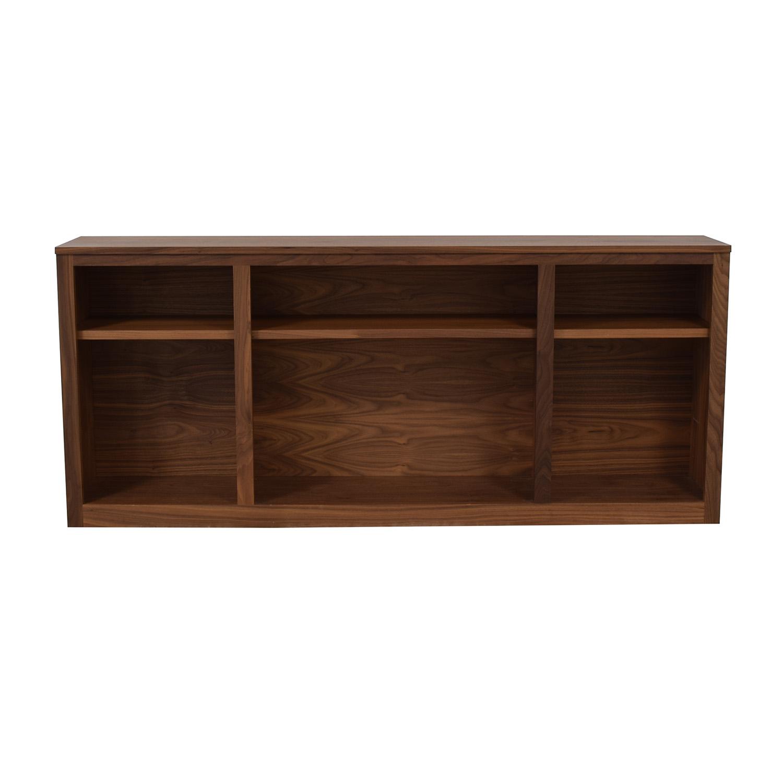 shop Room & Board Woodwind Walnut Bookcase Room & Board Bookcases & Shelving