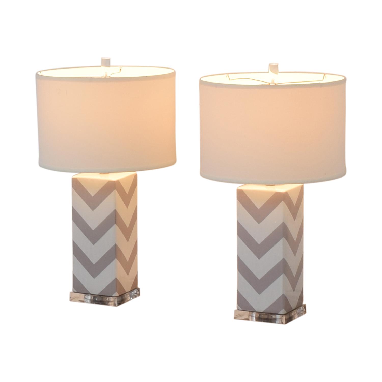 Safavieh Safavieh Chevron Strip Table Lamps Decor