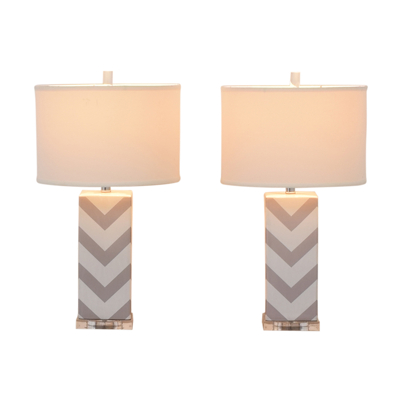 Safavieh Safavieh Chevron Strip Table Lamps nyc