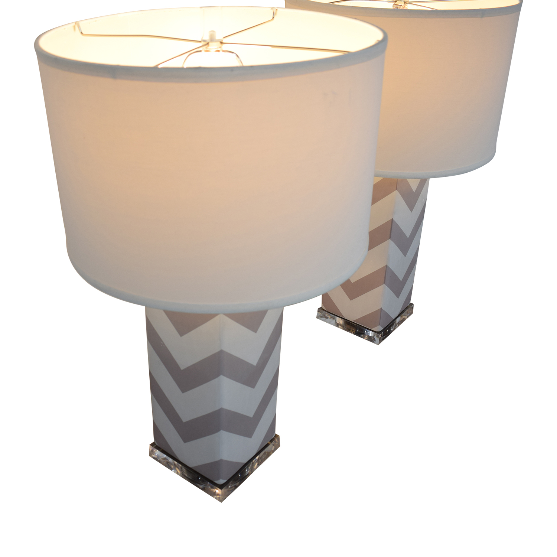Safavieh Chevron Strip Table Lamps / Decor