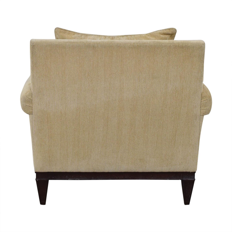 Bernhardt Bernhardt Roll Arm Accent Chair beige