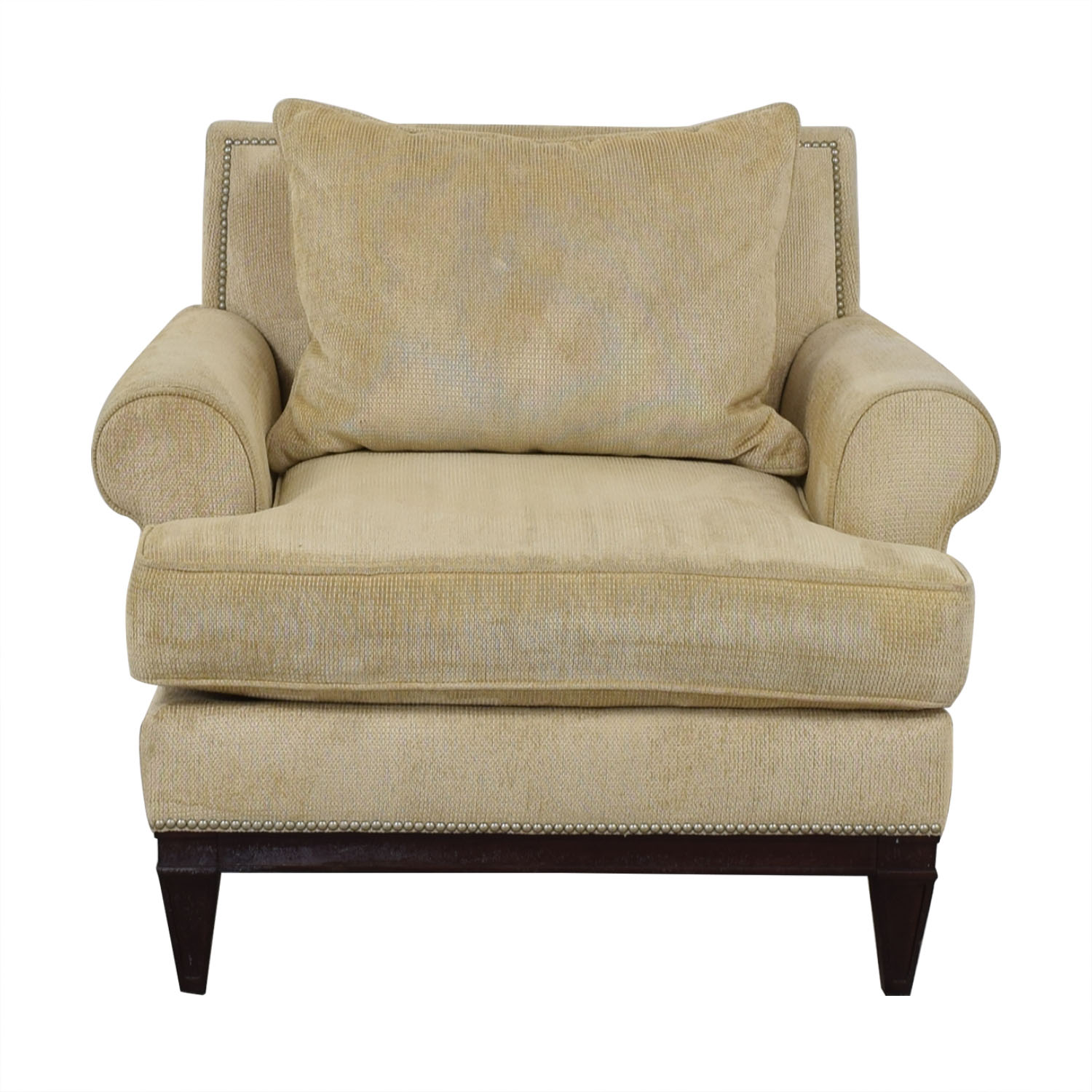 76 Off Bernhardt Bernhardt Roll Arm Accent Chair Chairs