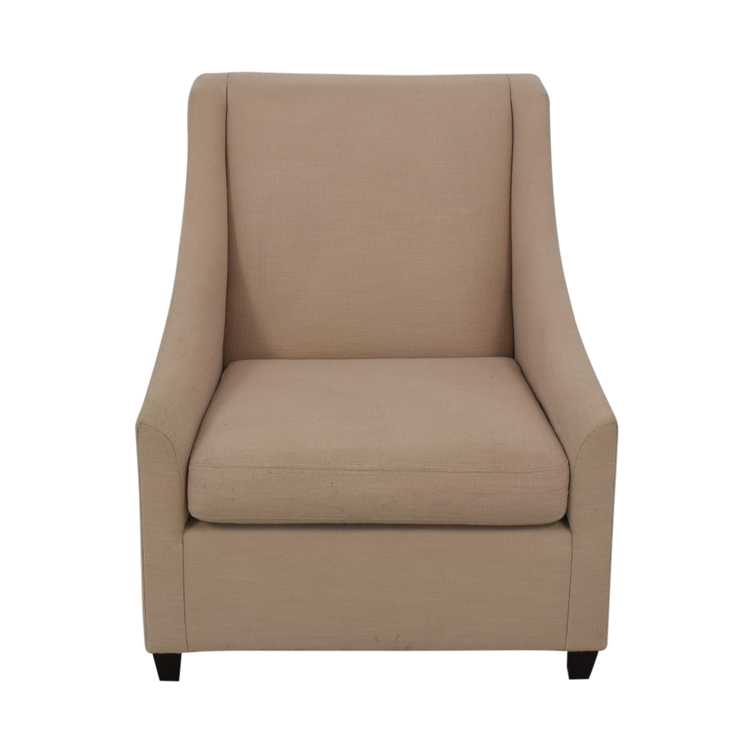 buy West Elm Sweep Beige Arm Chair West Elm Accent Chairs