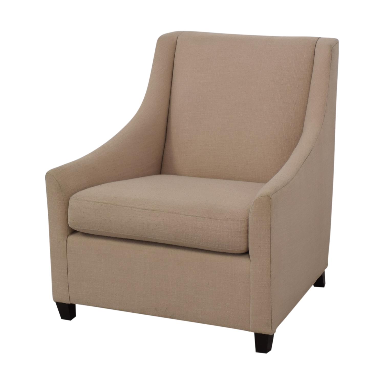 West Elm West Elm Sweep Beige Arm Chair Chairs
