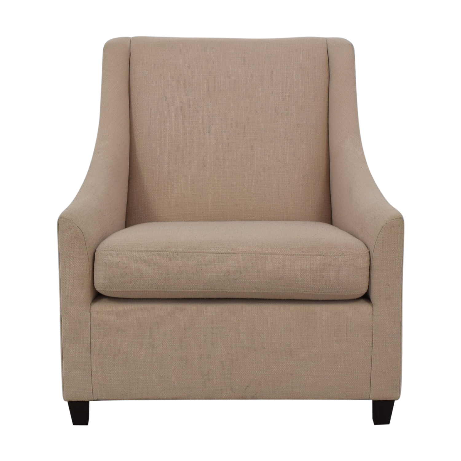 West Elm Sweep Beige Arm Chair / Accent Chairs