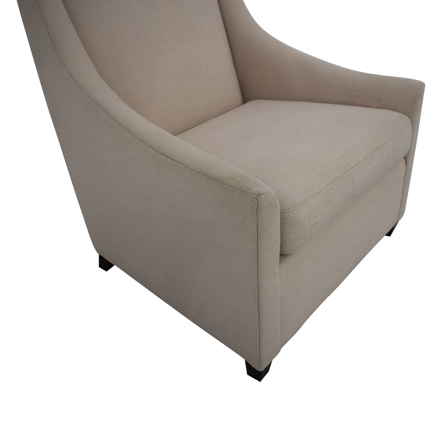 West Elm West Elm Sweep Beige Arm Chair Accent Chairs