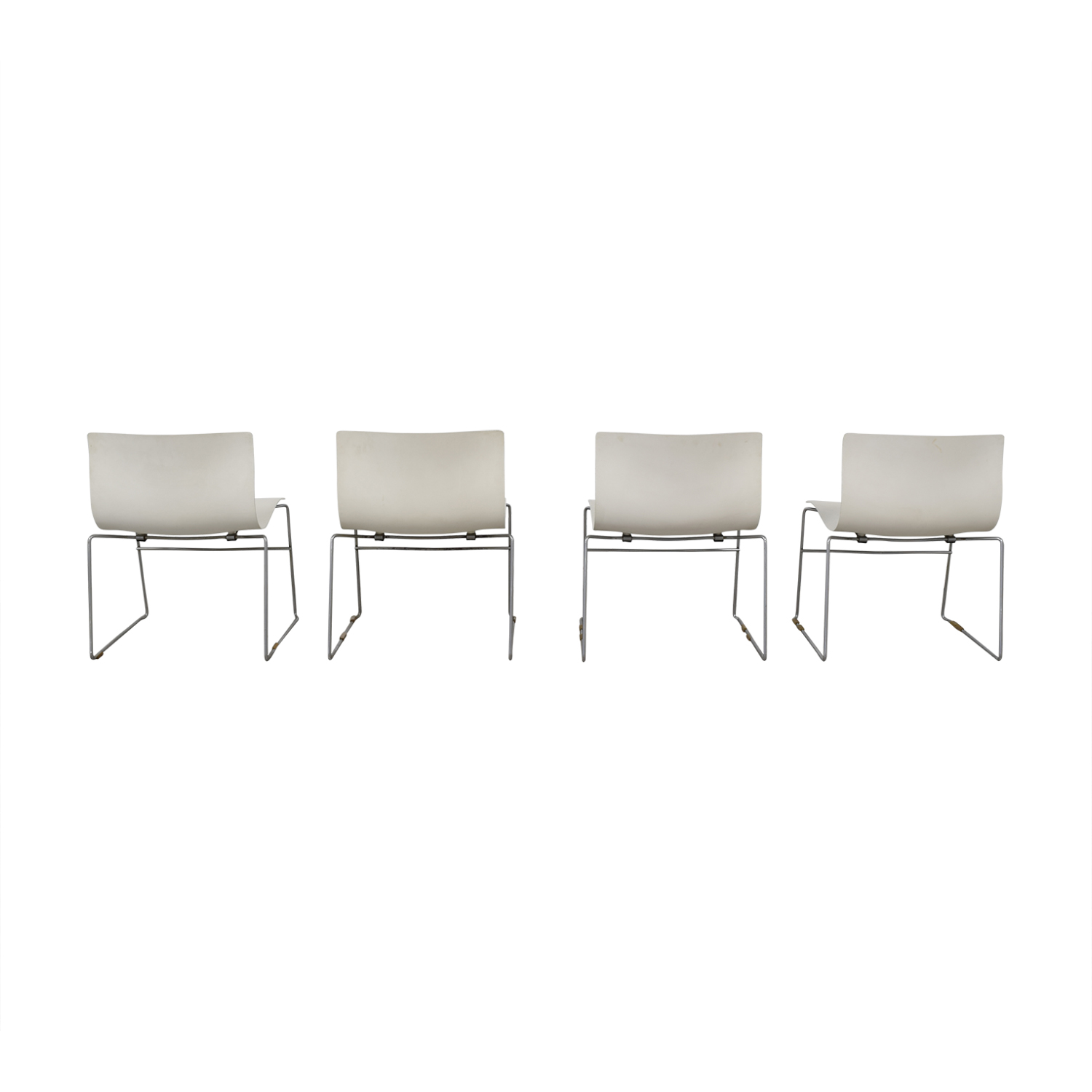 buy Knoll Knoll Vignelli Designs 1983 White Handkerchief Chairs online