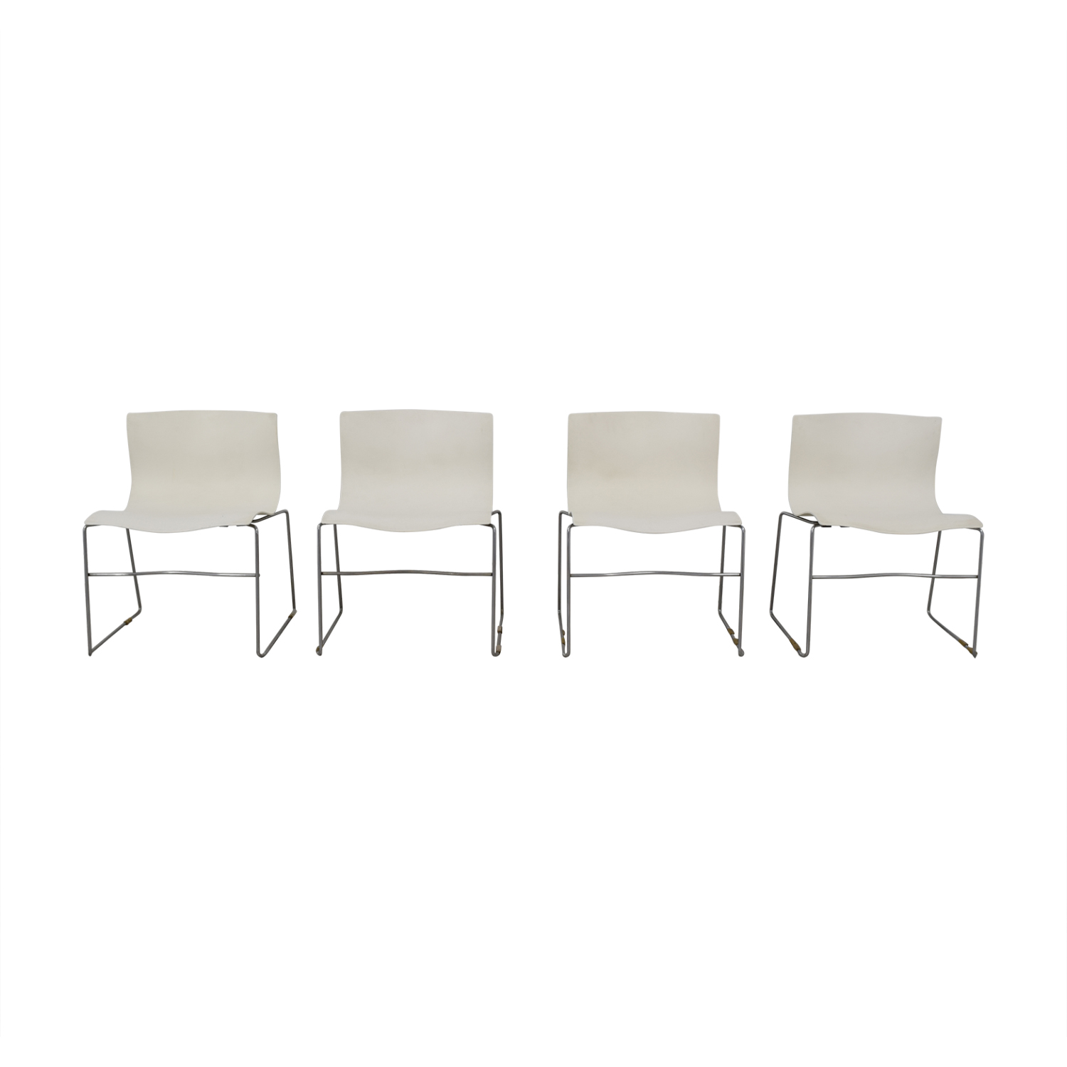 Knoll Knoll Vignelli Designs 1983 White Handkerchief Chairs second hand