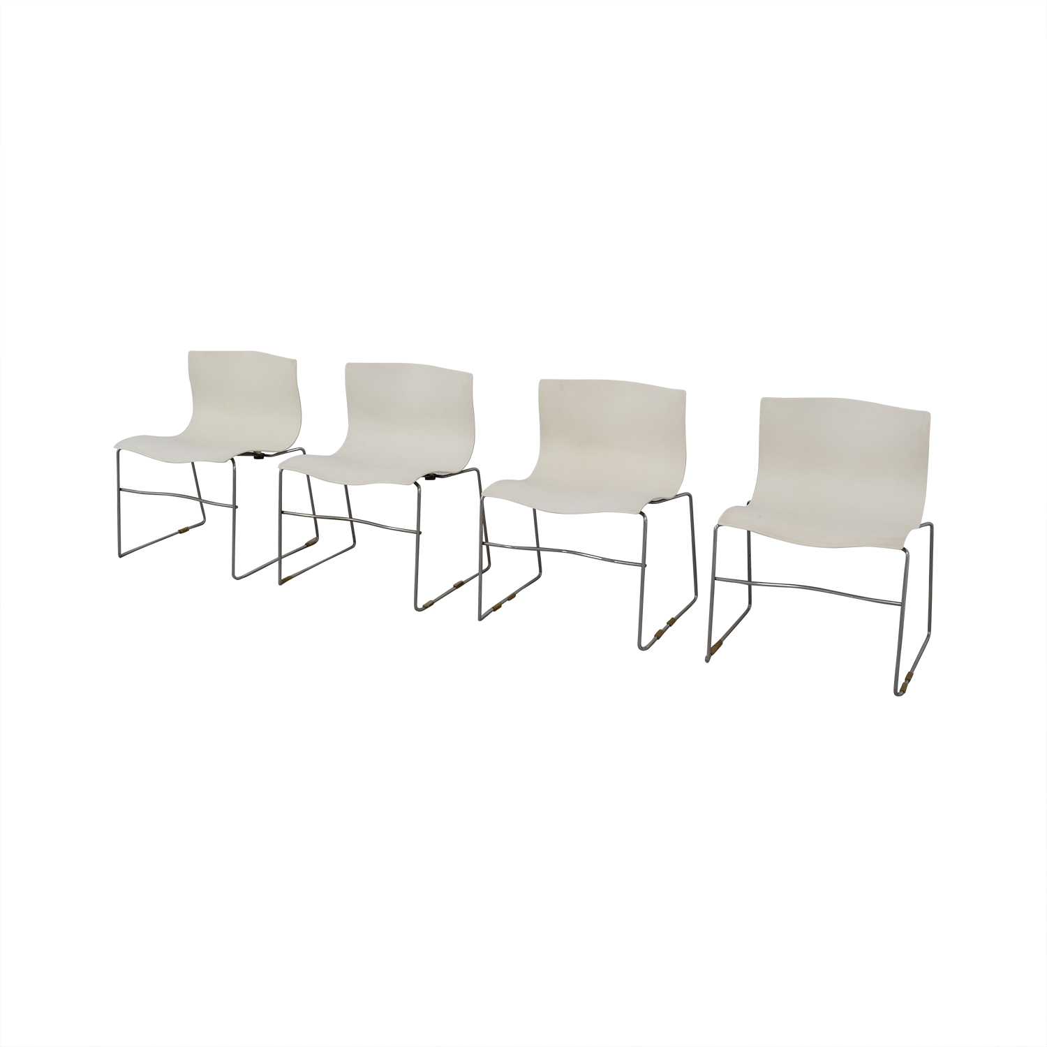Knoll Knoll Vignelli Designs 1983 White Handkerchief Chairs dimensions