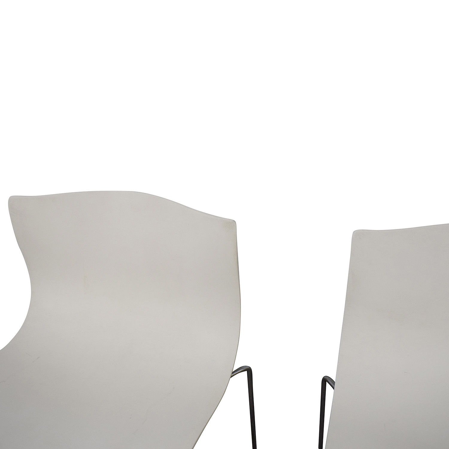 Knoll Knoll Vignelli Designs 1983 White Handkerchief Chairs used