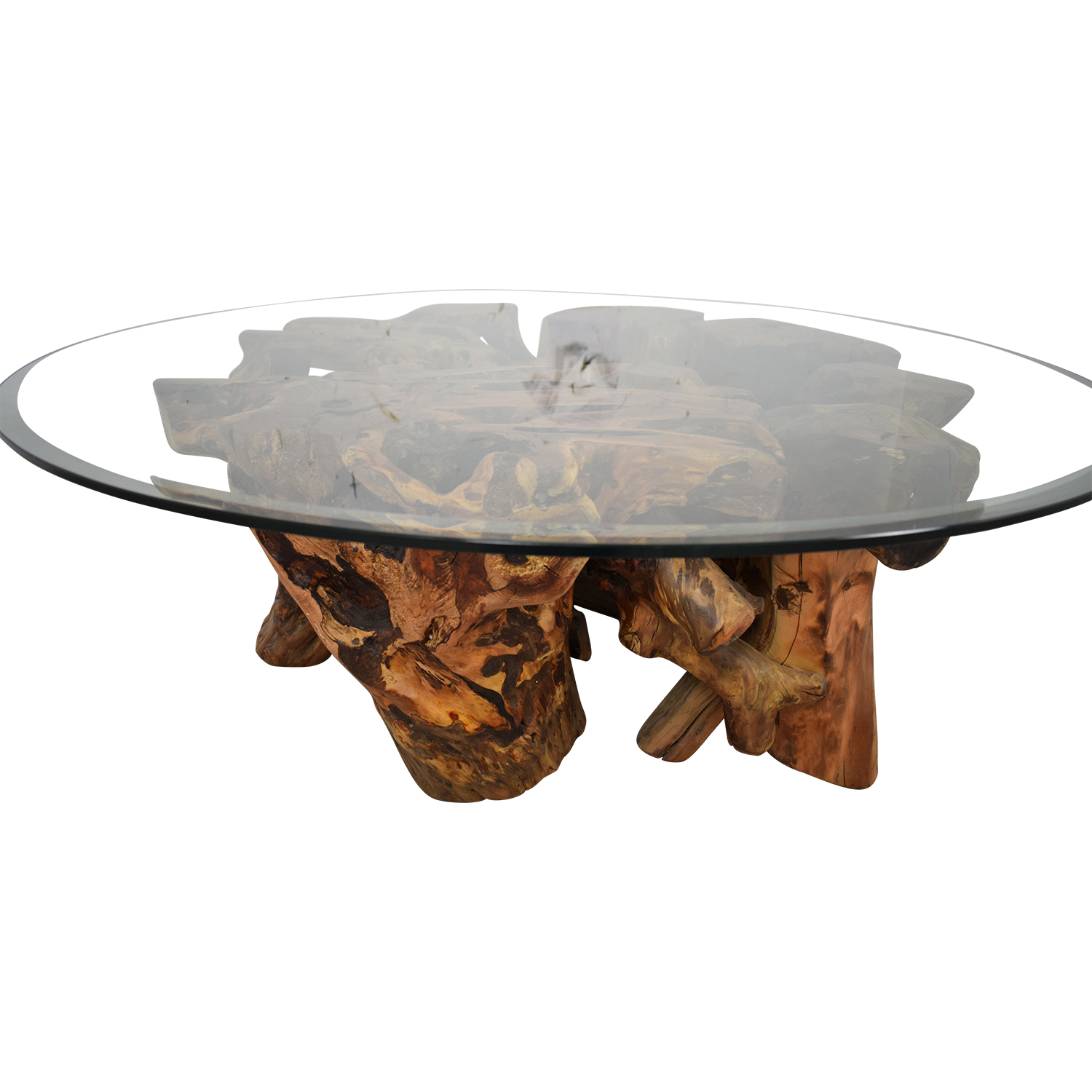 Control Brand Control Brand Wooden Tree Trunk Coffee Table on sale