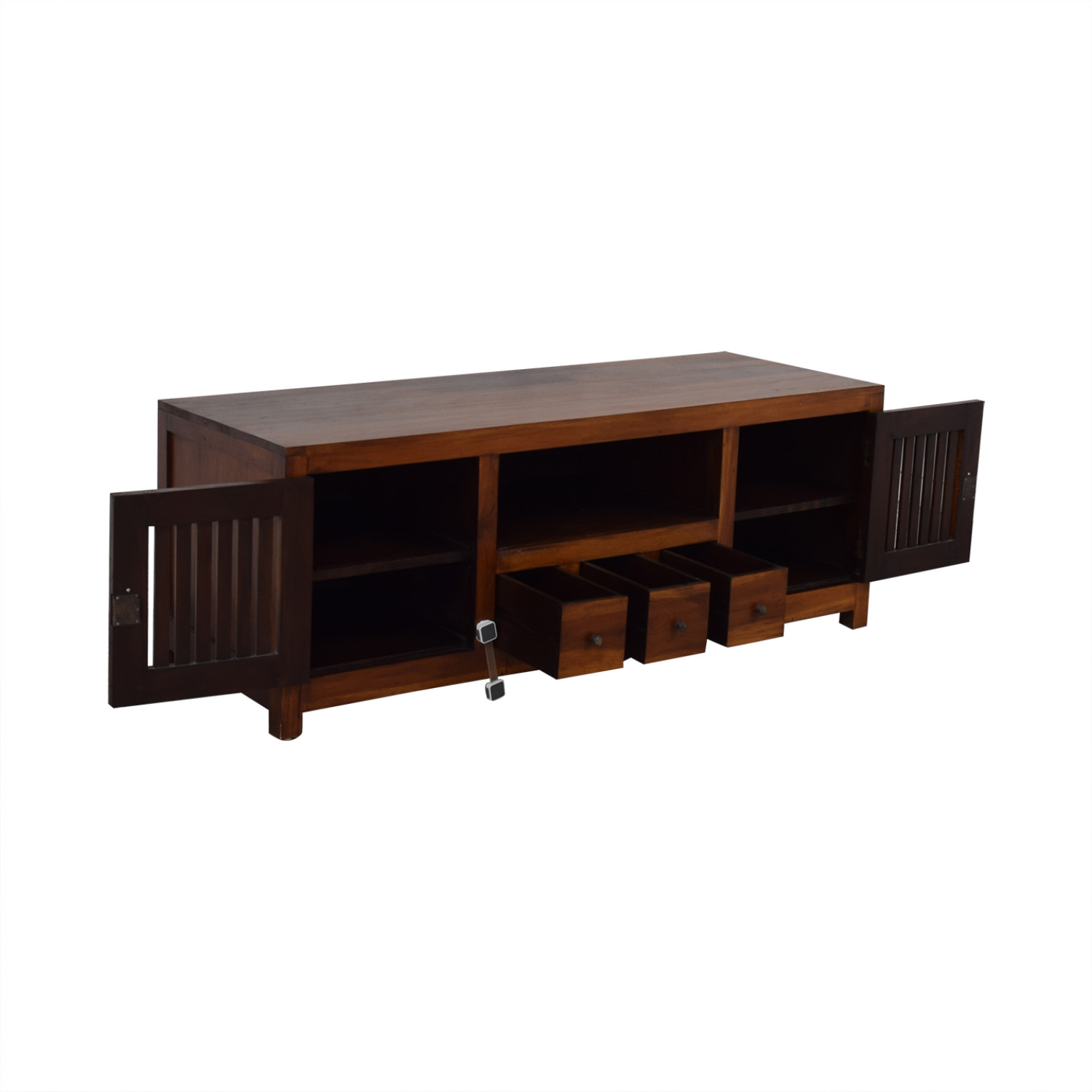 Teak Entertainment Center / Storage