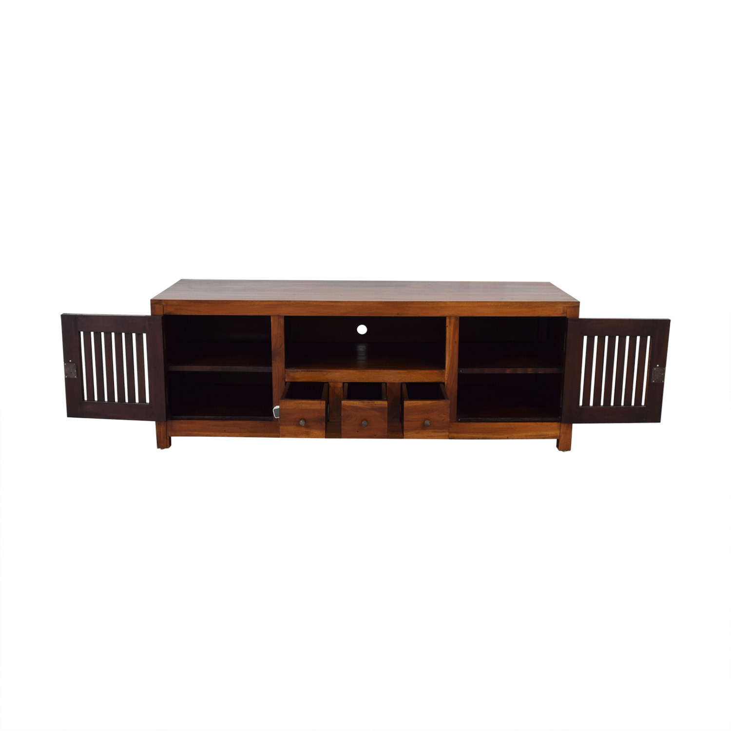 Teak Entertainment Center dimensions