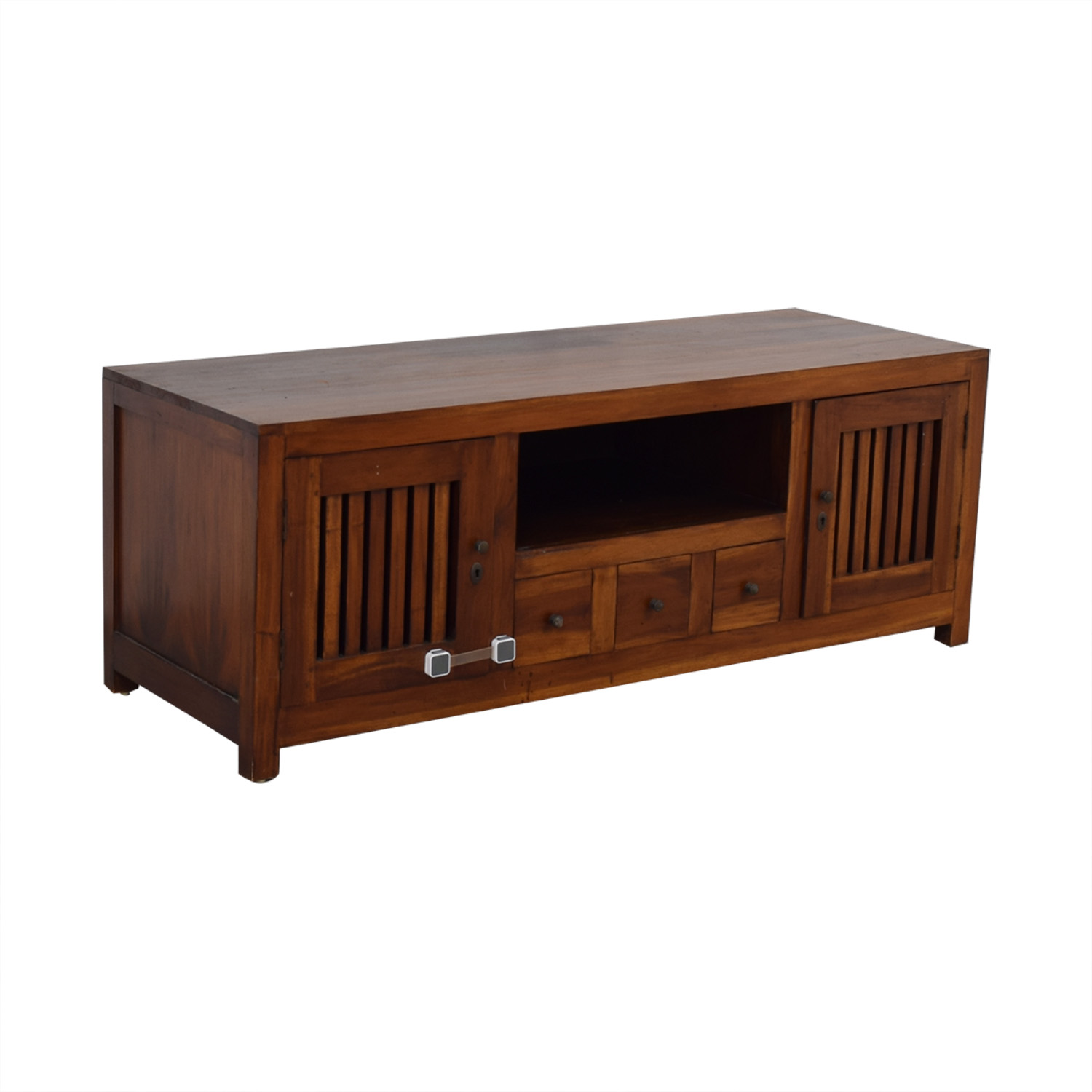 Teak Entertainment Center brown