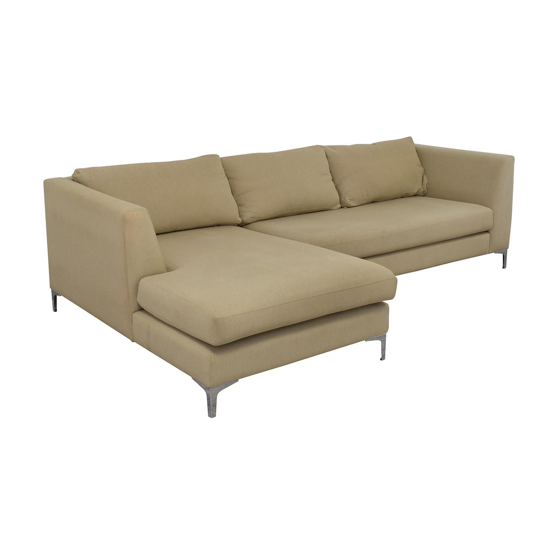 ABC Carpet & Home ABC Carpet & Home Modern Condo Sectional Sofa