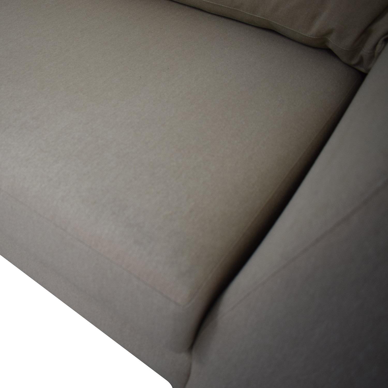 ABC Carpet & Home ABC Carpet & Home Modern Condo Sectional Sofa nj