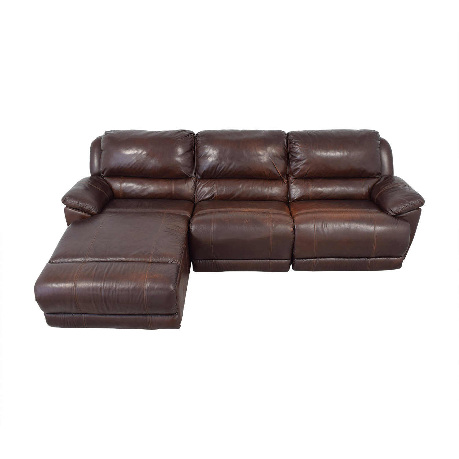 Macy's Leather Sectional / Sectionals