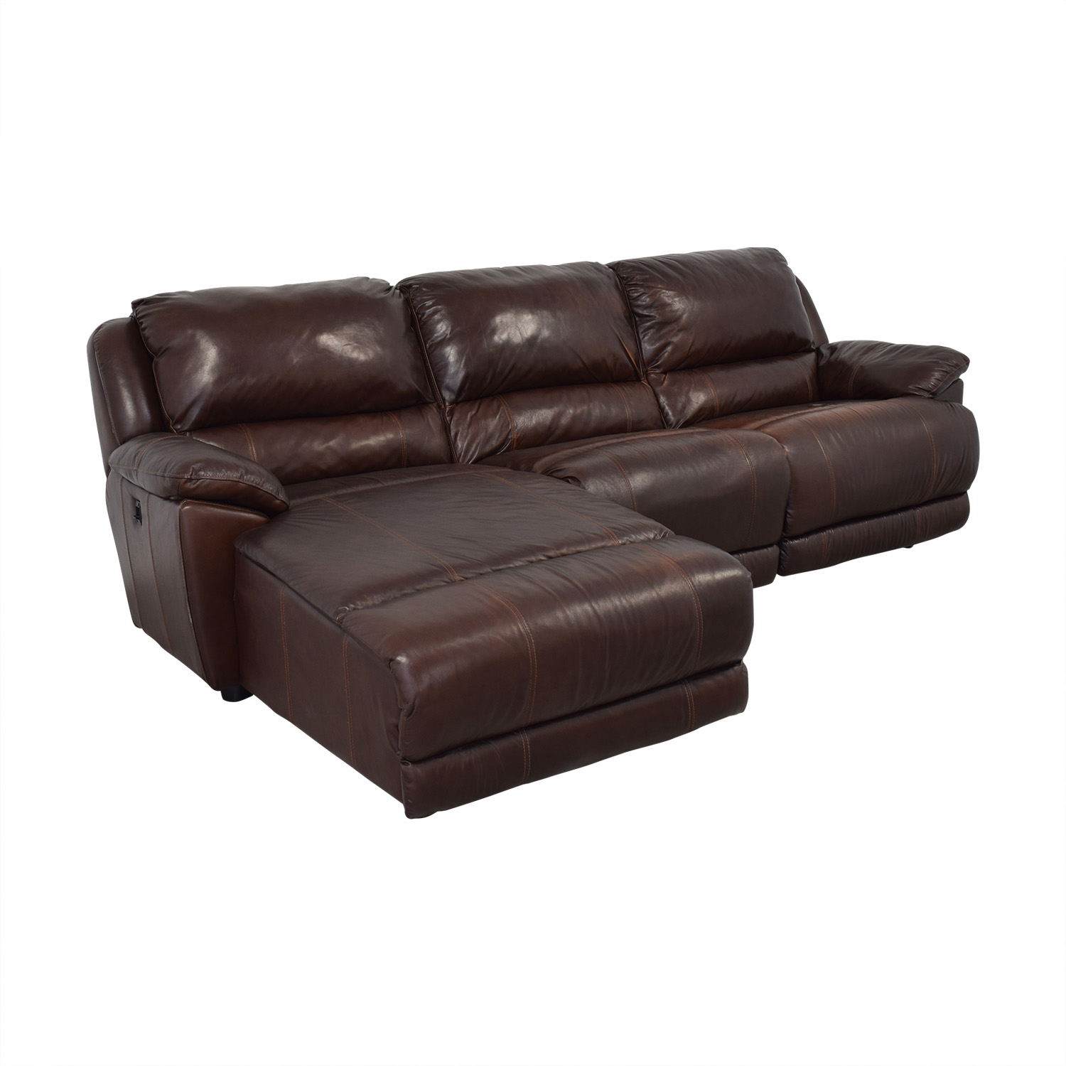 Macy's Macy's Leather Sectional dimensions
