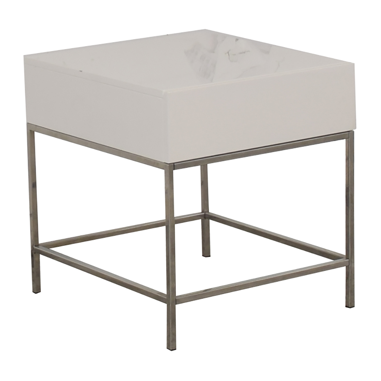 buy West Elm Lacquer Storage Side Table West Elm End Tables