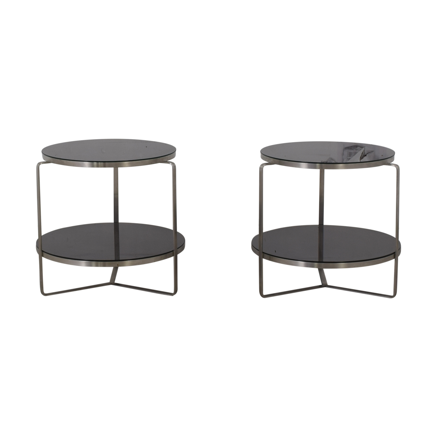 buy Tui Lifestyle Black Two Tier Glass Side Tables Tui Lifestyle End Tables