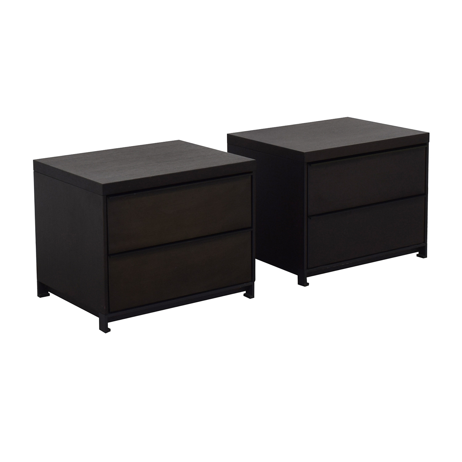 Tui Lifestyle Grey Oak Two Drawer Night Stands for sale