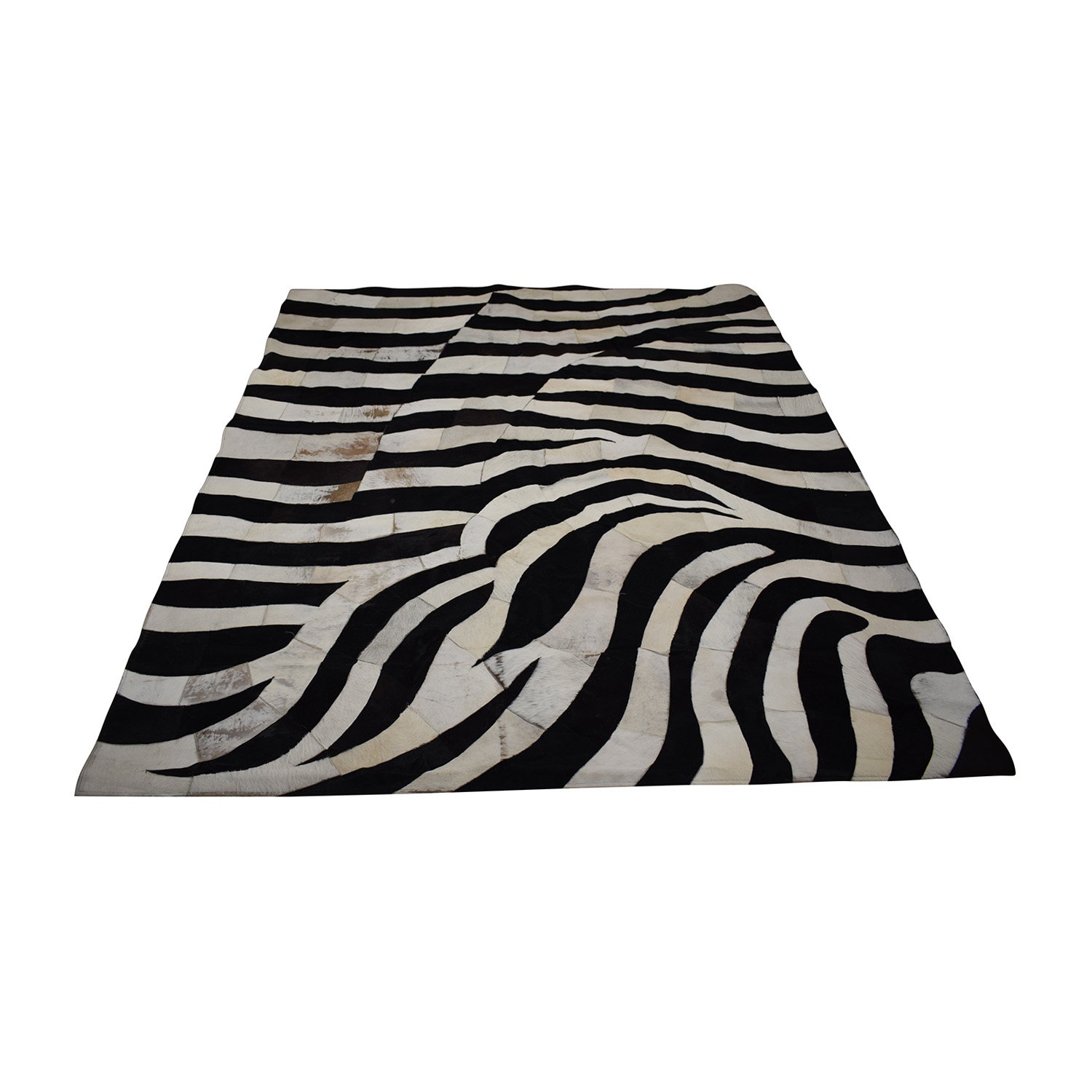 Madisons Zebra Cow Hide Rug 8x10 Madisons