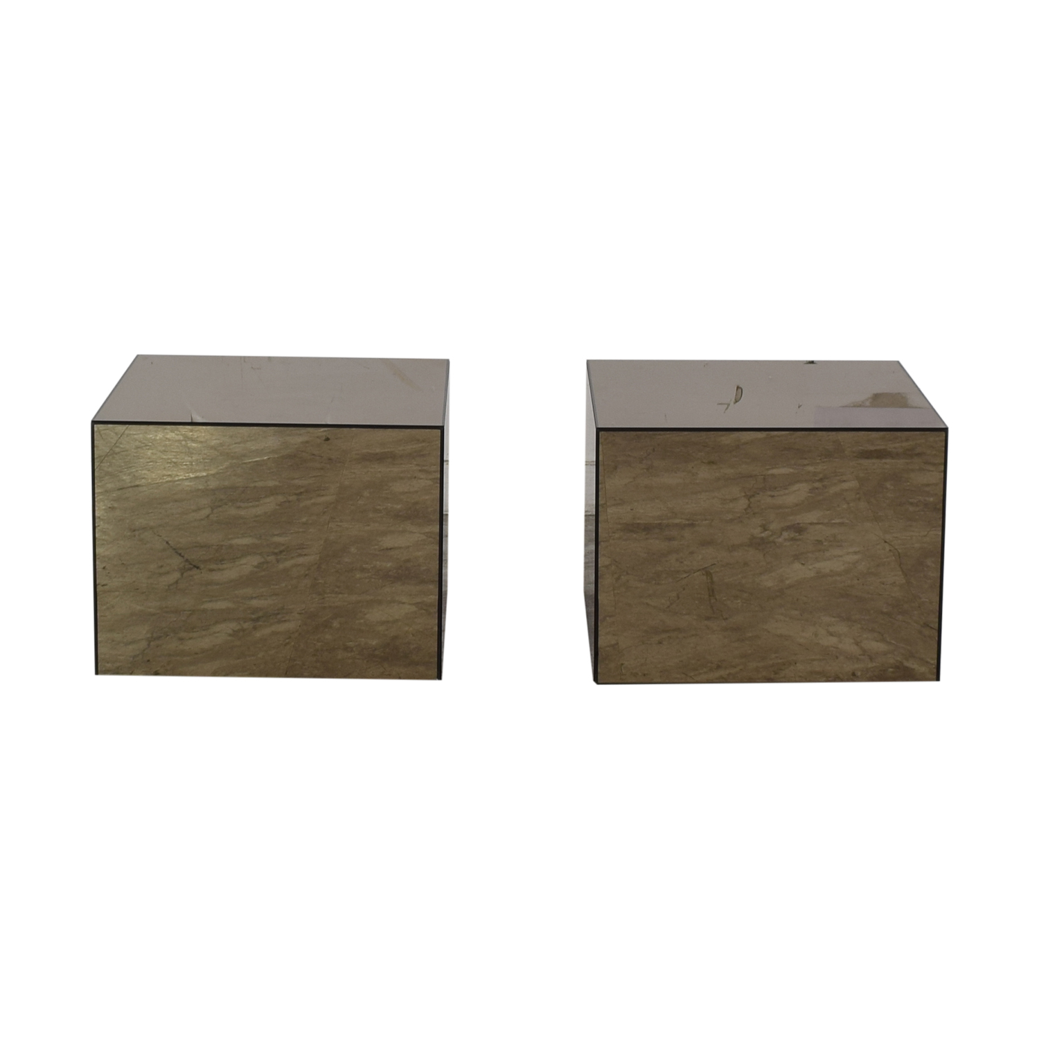 CB2 CB2 City Slicker Mirror Side Tables nyc