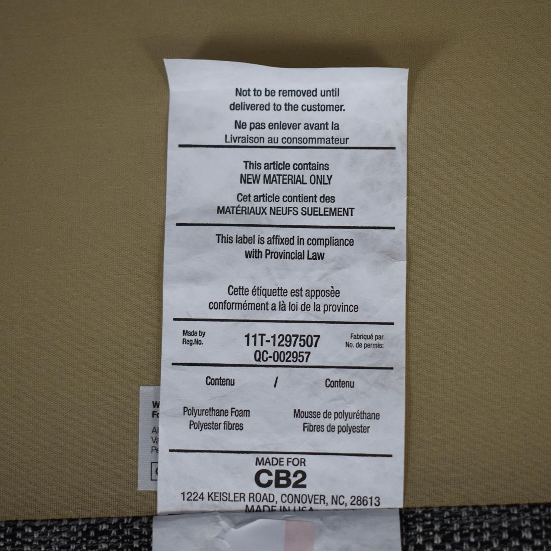 buy CB2 CB2 Grey Tuxedo Sofa online