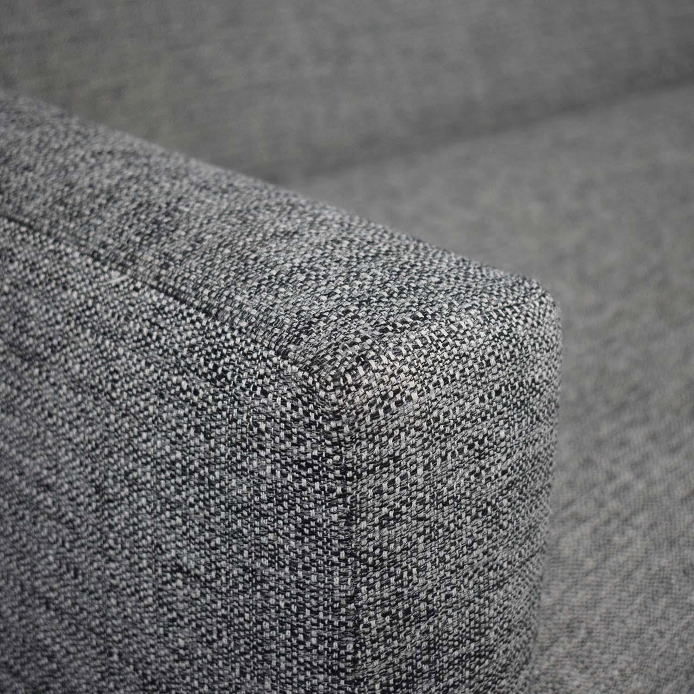 CB2 Grey Tuxedo Sofa / Sofas