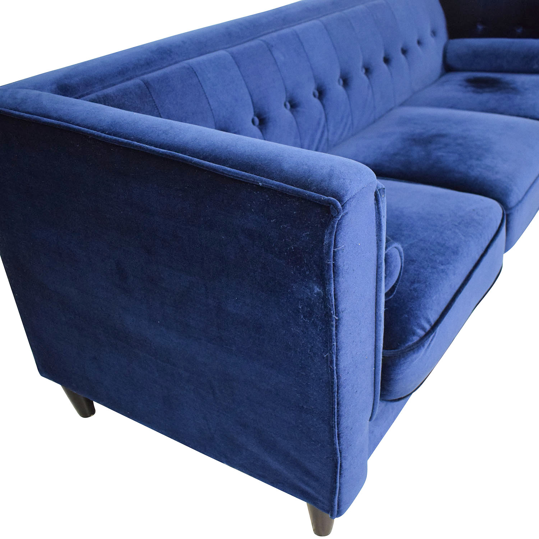 Meridian Furniture Meridian Furniture Taylor Velvet Sofa nj