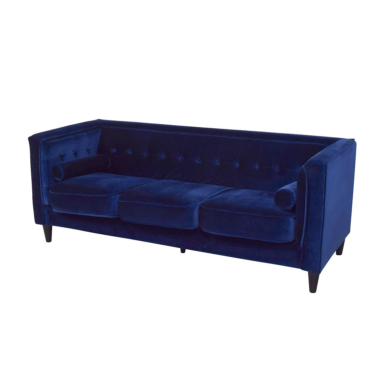 Meridian Furniture Meridian Furniture Taylor Velvet Sofa dimensions