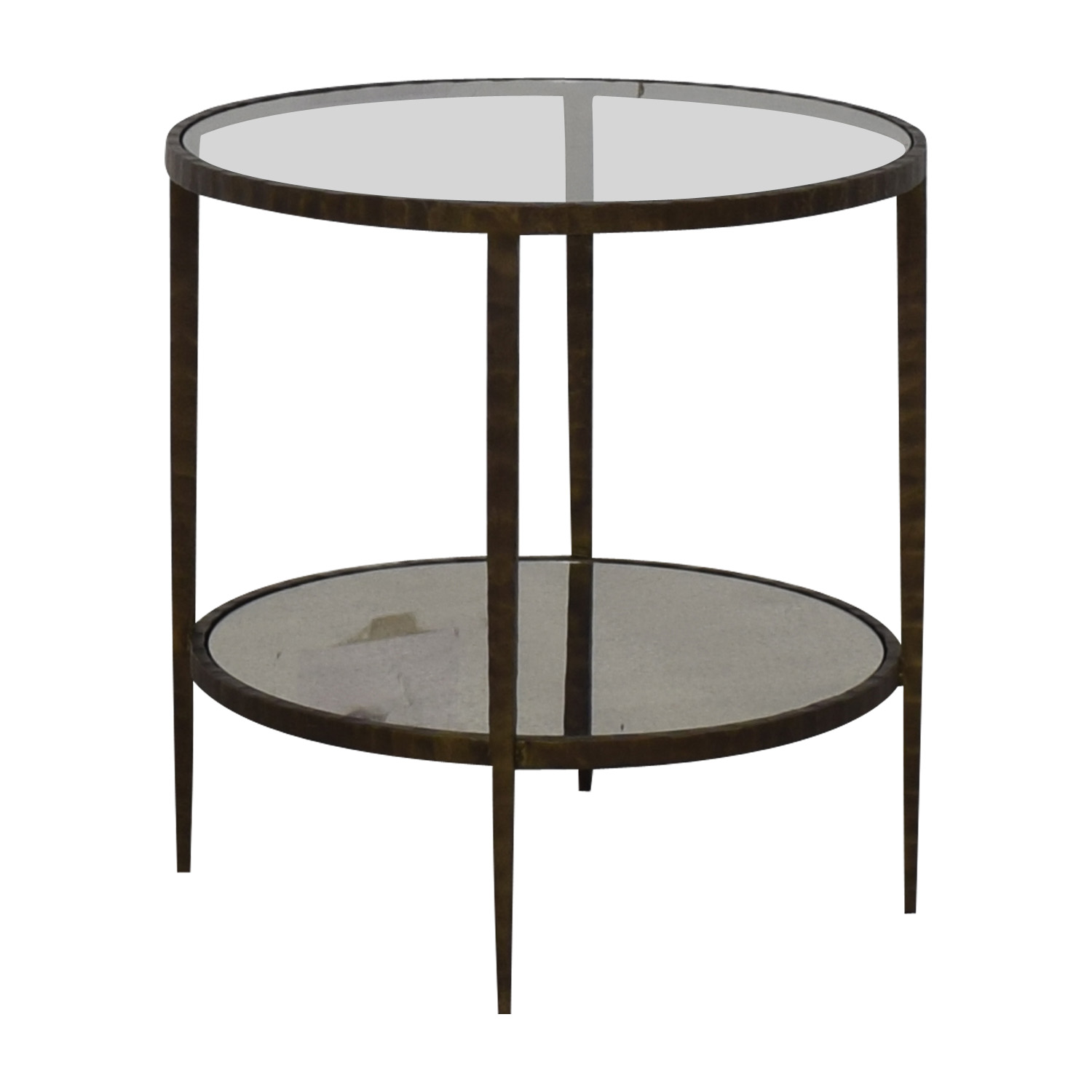 Crate & Barrel Clairemont Round Side Table / Tables