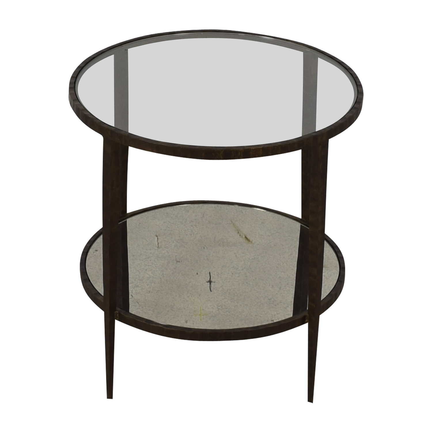 Crate & Barrel Crate & Barrel Clairemont Round Side Table second hand